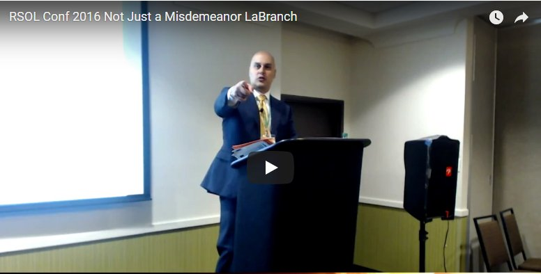 Not Just a Misdemeanor – LaBranch