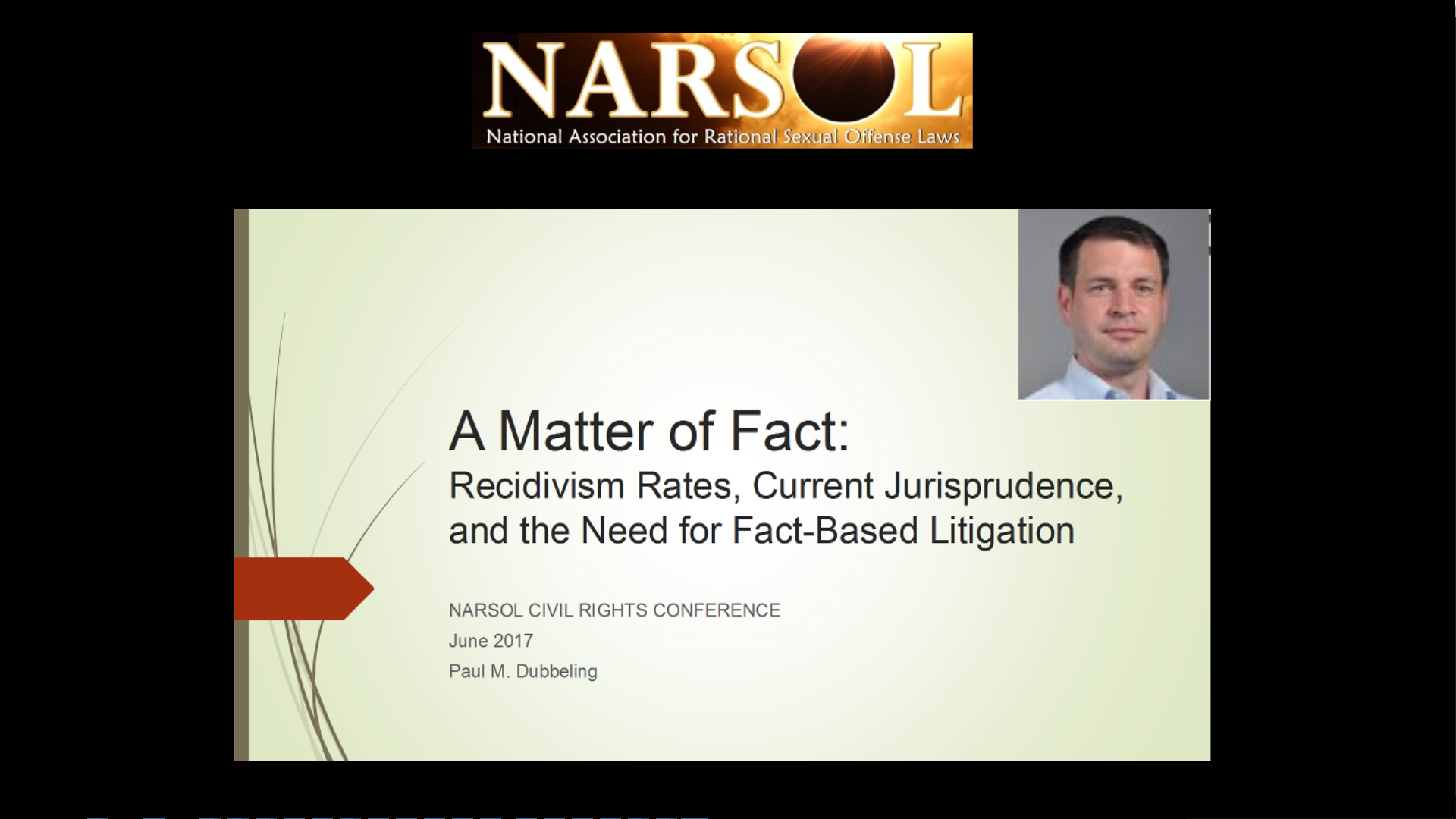 Paul Dubbeling – A Matter of Fact: Recidivism rates and the need for fact-based litigation