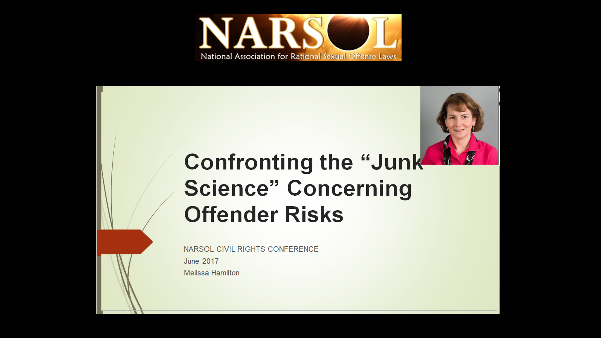 "Melissa Hamilton – Confronting the ""Junk Science"" Concerning Offender Risks"