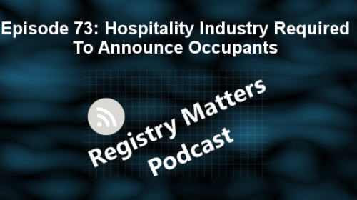 Episodes 72 & 73 of Registry Matters Podcast