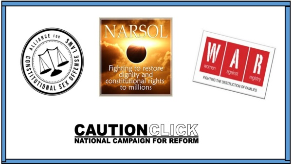 The women involved in sexual offense registry opposition: NARSOL, ACSOL, WAR, CAUTION CLICK