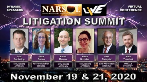 NARSOL's litigation summit webcast; sign up now!