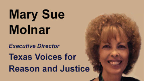 Texas's own Mary Sue Molnar to be speaker at NARSOL's conference award banquet