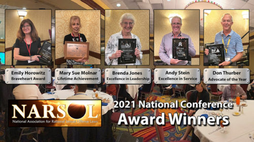 NARSOL's 2021 award winners and a big Thank You to conference attendees
